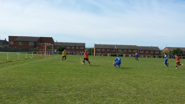Adam Cassidy goes clear before making it 4-0 to Meliden