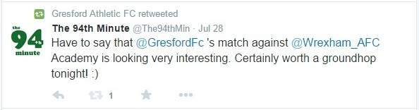Gresford's retweet of my tweet on Twitter