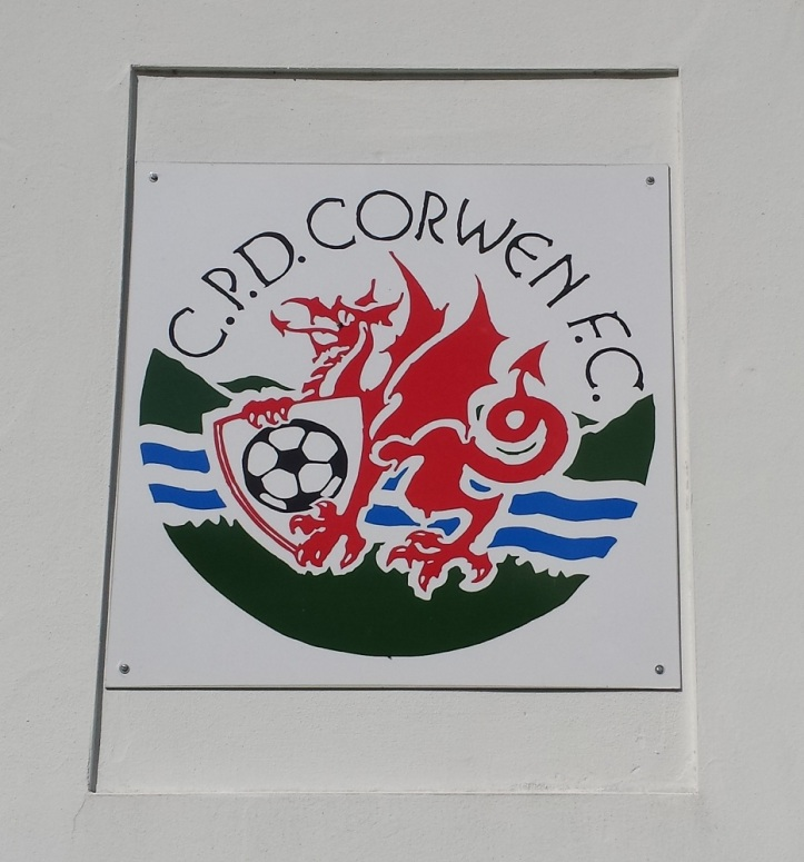 The badge on the wall of the clubhouse