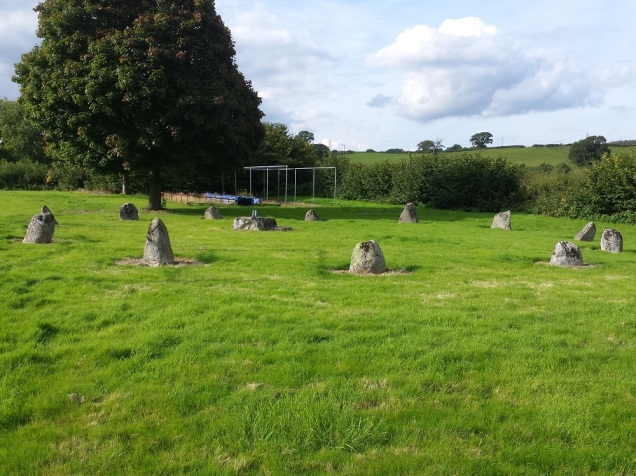 The Gorsedd Circle by the pitch