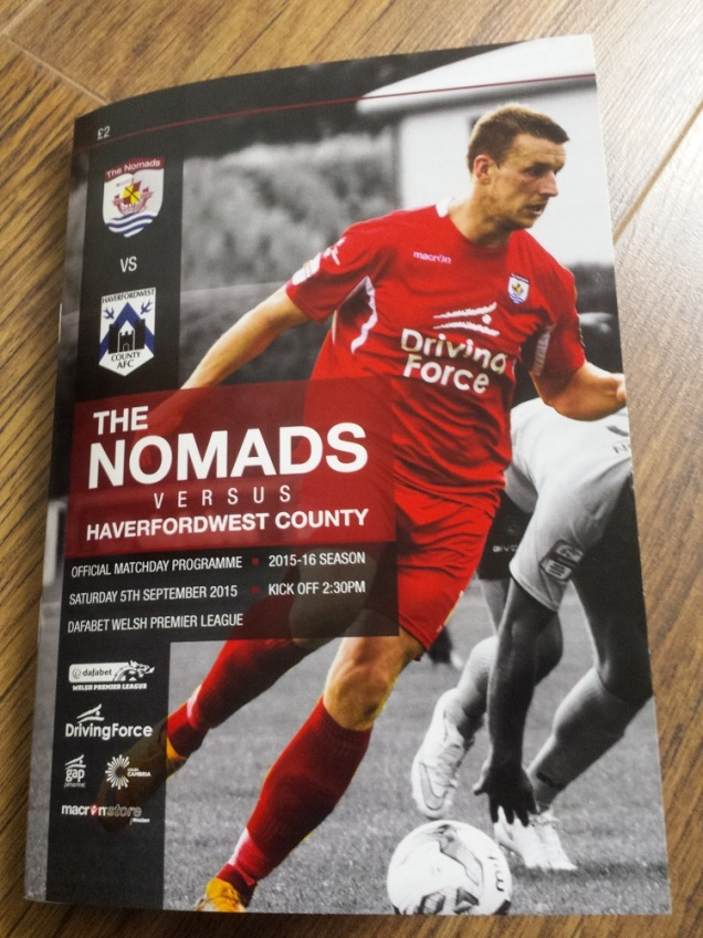 The excellent programme for the match