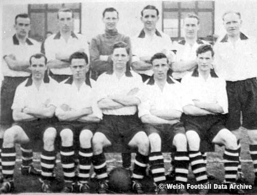 Flint Town United's Welsh Cup winning team of 1953-54. [Used with kind permission from Welsh Football Data Archive http://wfda.co.uk/wfda_photo.php?id=67]