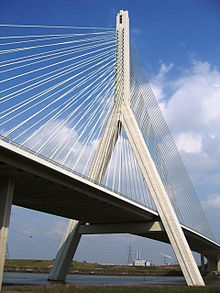 The Flintshire Bridge which dominates the Connah's Quay skyline