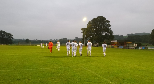 Gap Connah's Quay coming out in their all-white away kit