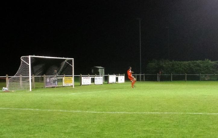 John Danby with the goal kick