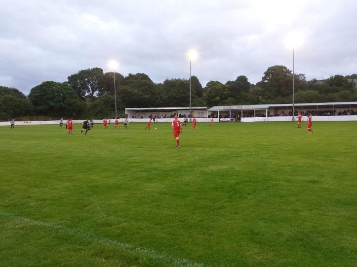 Holywell Town kick-off the match