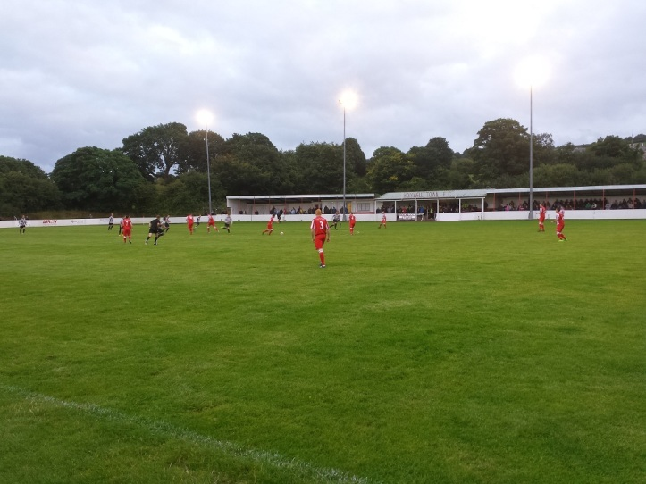 Holywell Town kick-off the match