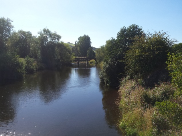 The view of the River Severn from the bridge
