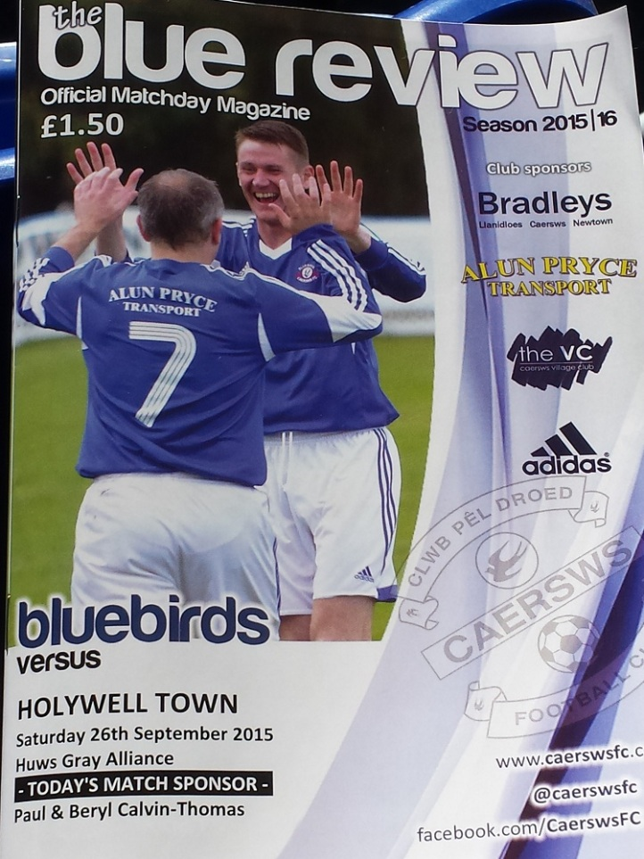 Programme for the match