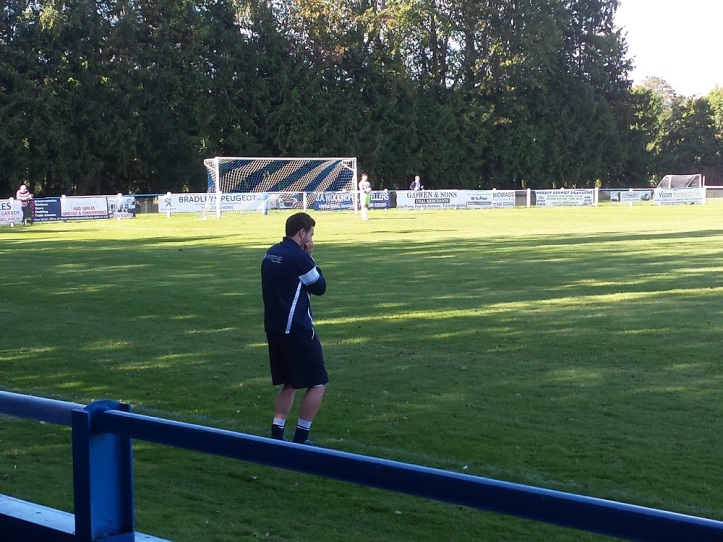 John Haseldin ponders on his 2nd half tactics