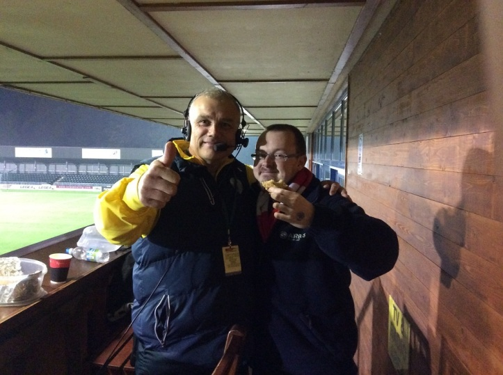 The Rev & I - I am holding a slice of the TNS Cake plus I had a mouthful of it also ha! Thanks to The Rev for allowing me to use the picture! https://dancinginthestreetsoftns.wordpress.com/2015/09/29/seven-goals-seven-tweets/