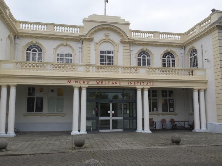 The front of the Llay Miners Welfare building