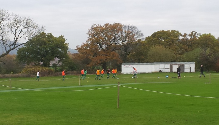 Coedpoeth United warming-up