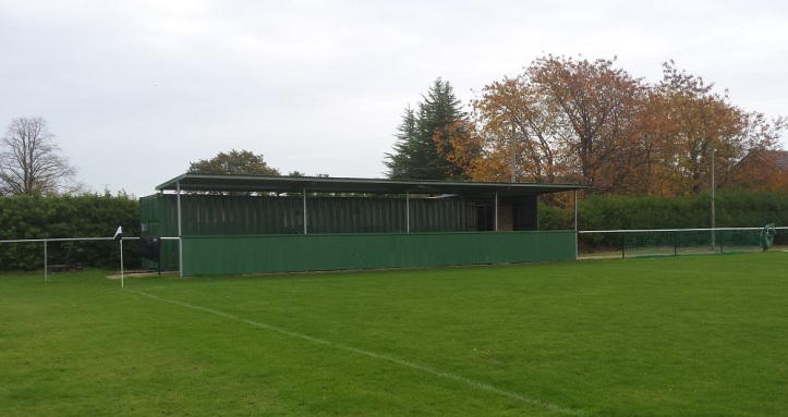 The green stand with the snack bar
