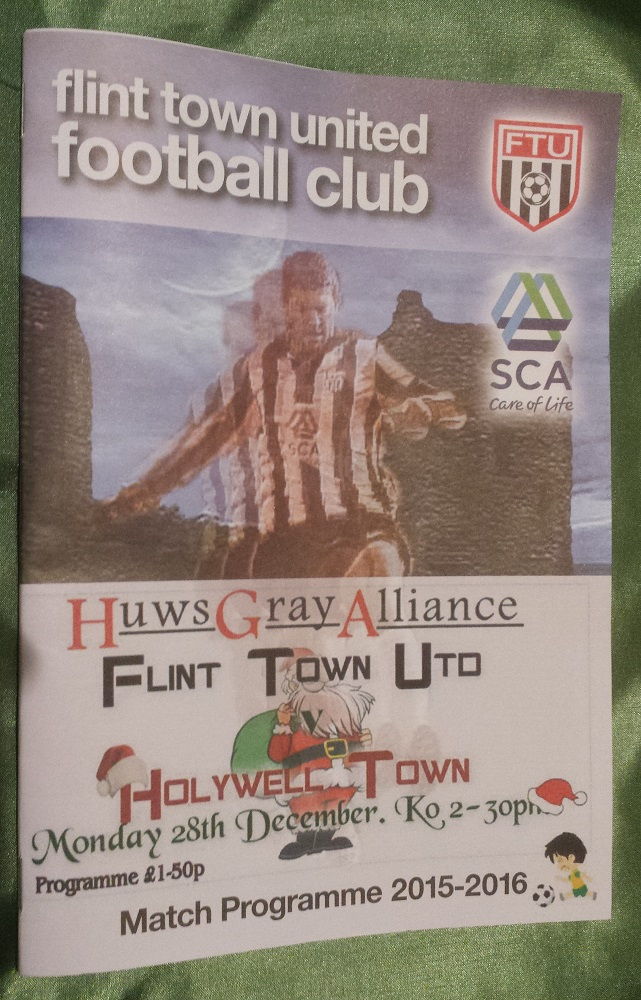 Flint Town vs Holywell Town 28th Dec Programme