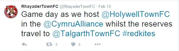 Rhayader Tweet