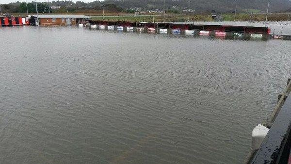 Flooding at Y Traeth