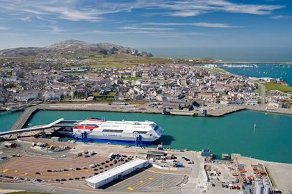 Holyhead (port featuring ferry)Isle of Anglesey Aerial North Towns & Villages