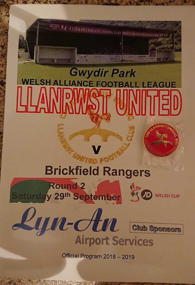 Llanrwst vs Brickfield - 29th Sept 18 - ADD
