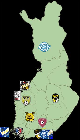 2019 Finland Team Map