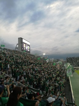 The Matsumoto Yamaga fans in full colour and support. [PHOTO: Courtesy of Chris Hough]