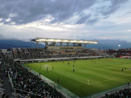 Matsumoto Yamaga's ground, with its stunning backdrop. [PHOTO: Courtesy of Chris Hough]