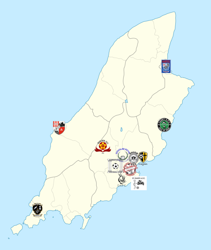 IoMFL Premier Division Map