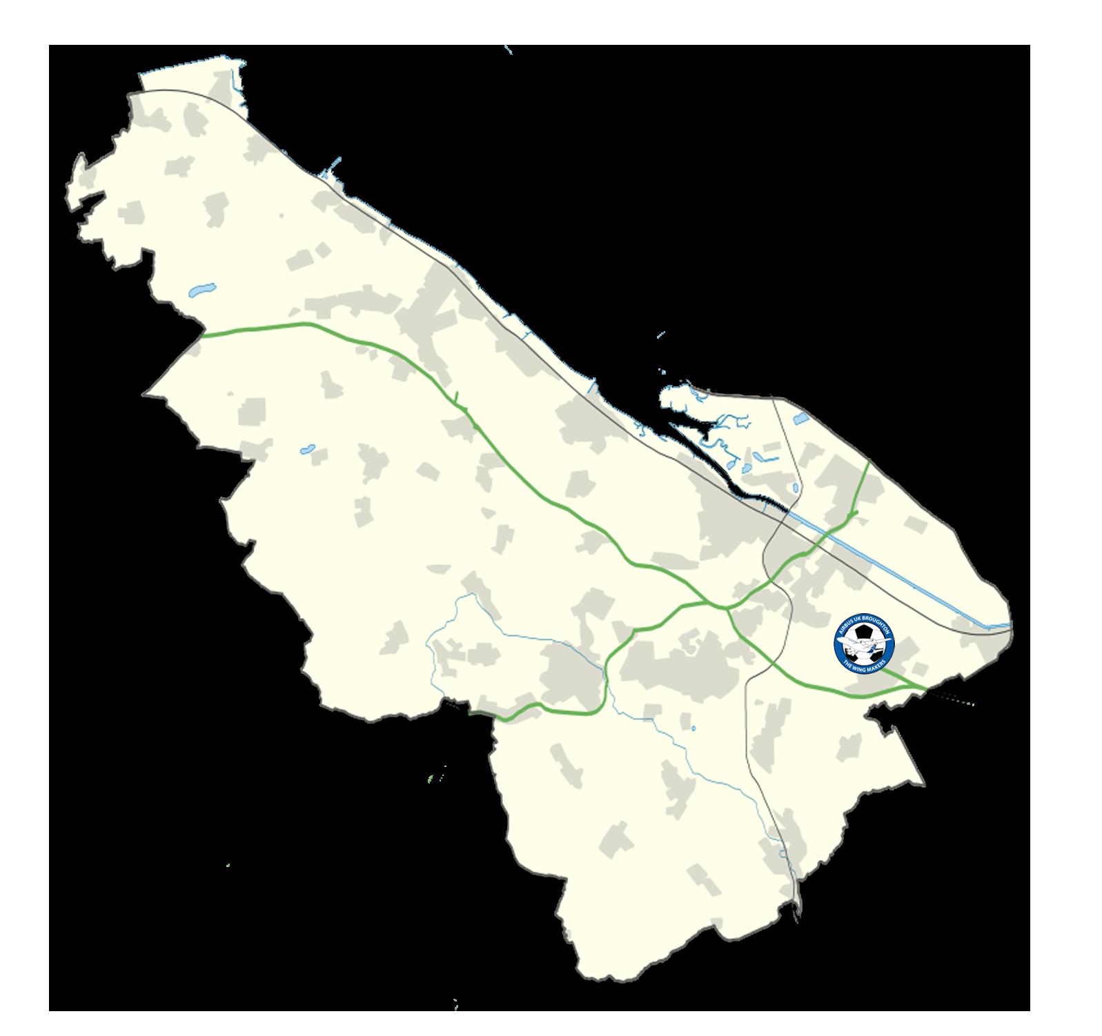 Flintshire Map - Airbus