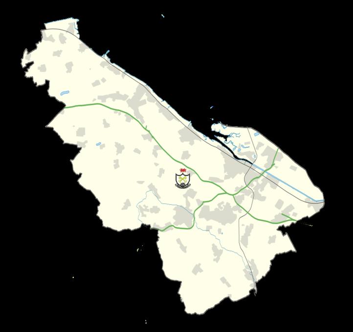 Flintshire Map - Sychdyn