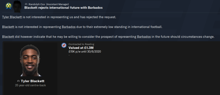 S1 - Tyler Blackett Rejects Barbados