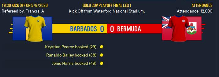 S1P3 - Result vs Bermuda - 1st Leg