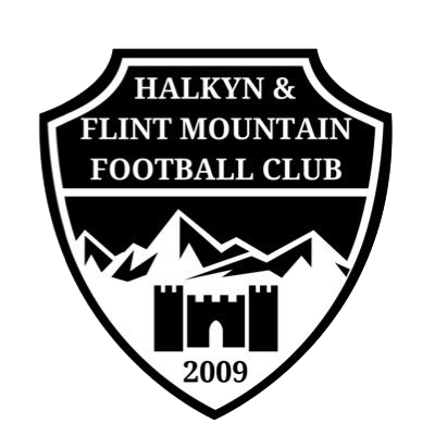 Halkyn Flint Mountain White & Black Badge